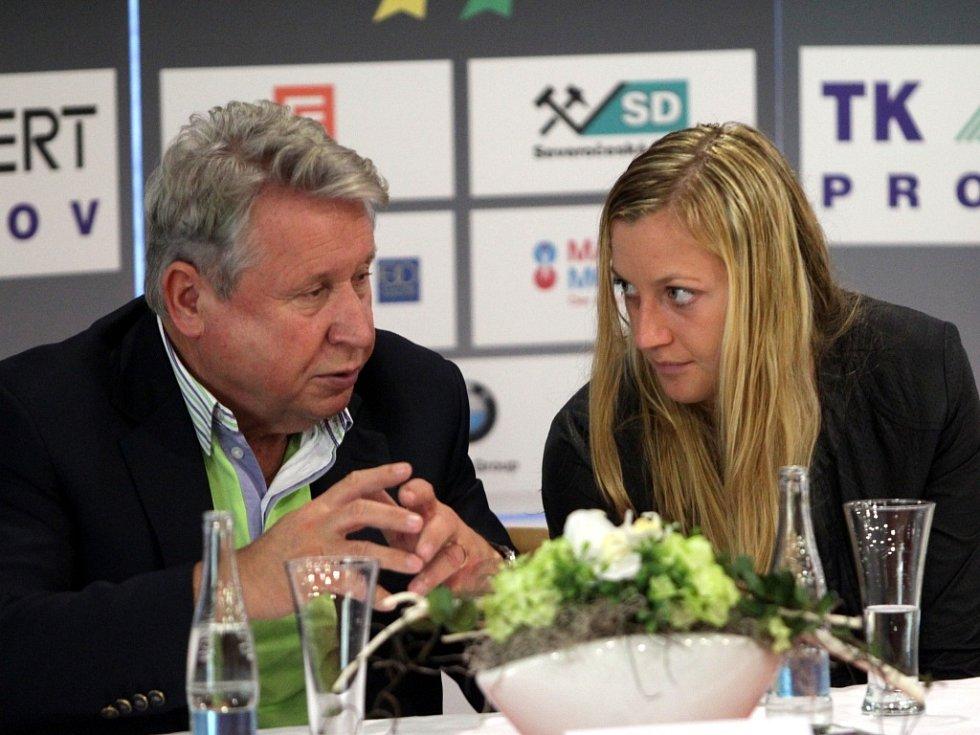 Majitel České sportovní Miroslav Černošek a nejlepší česká tenistka Petra Kvitová.