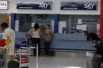 Krach letecké společnosti SkyEurope, situace na pražském ruzyňském letišti 1.9.2009.