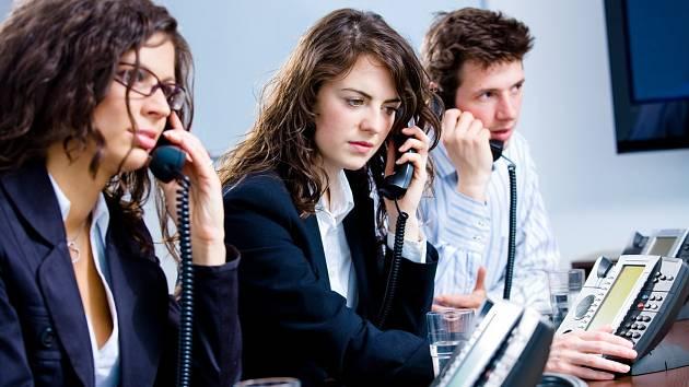 Call centrum. Ilustrační snímek