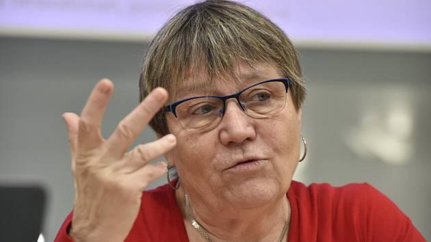 Bývalá ombudsmanka Anna Šabatová na snímku z 9. prosince 2019