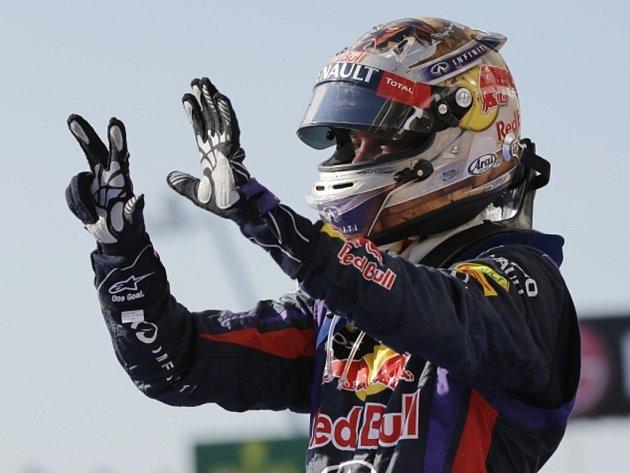 Rekordní osmé vítězství za sebou. Sebastian Vettel vyhrál i Velkou cenu USA.
