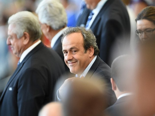 Prezident UEFA Michael Platini na finále MS.