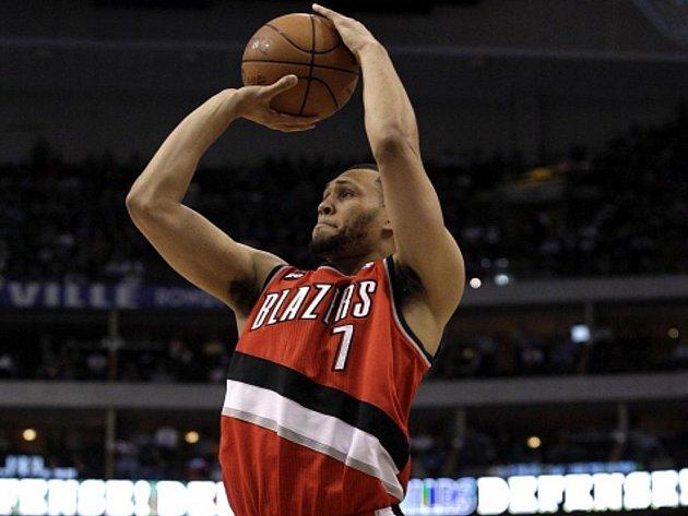 Basketbalista Portlandu Brandon Roy.