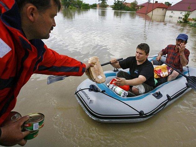 Záplavy v Polsku.