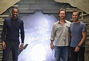 Z premiéry filmu Temná věž - zleva Idris Elba, Matthew McConaughey, Nikolaj Arcel