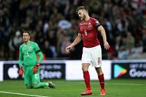 Tomáš Kalas v zápase kvalifikace ME v Anglii