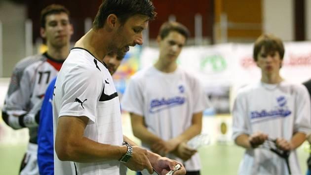 Trenér florbalové reprezentace Radim Cepek.