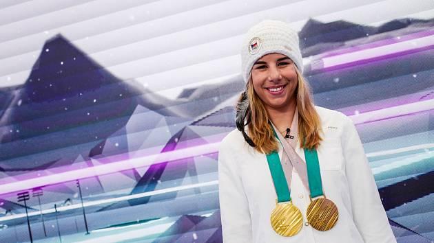Olympijská vítězka Ester Ledecká.