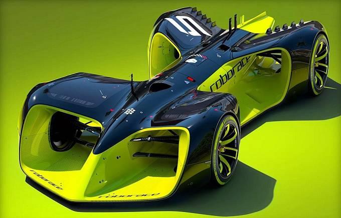 Koncept monopostu pro první šampionát autonomních vozů.