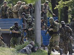 Proruští separatisté. Ilustrační foto.