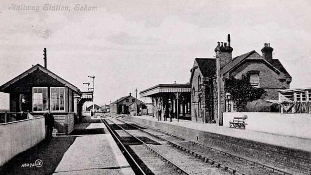 Nádraží v Sohamu v době druhé světové války