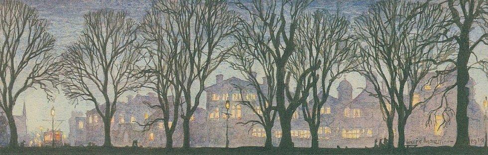 Vánoční pohlednice z roku 1918