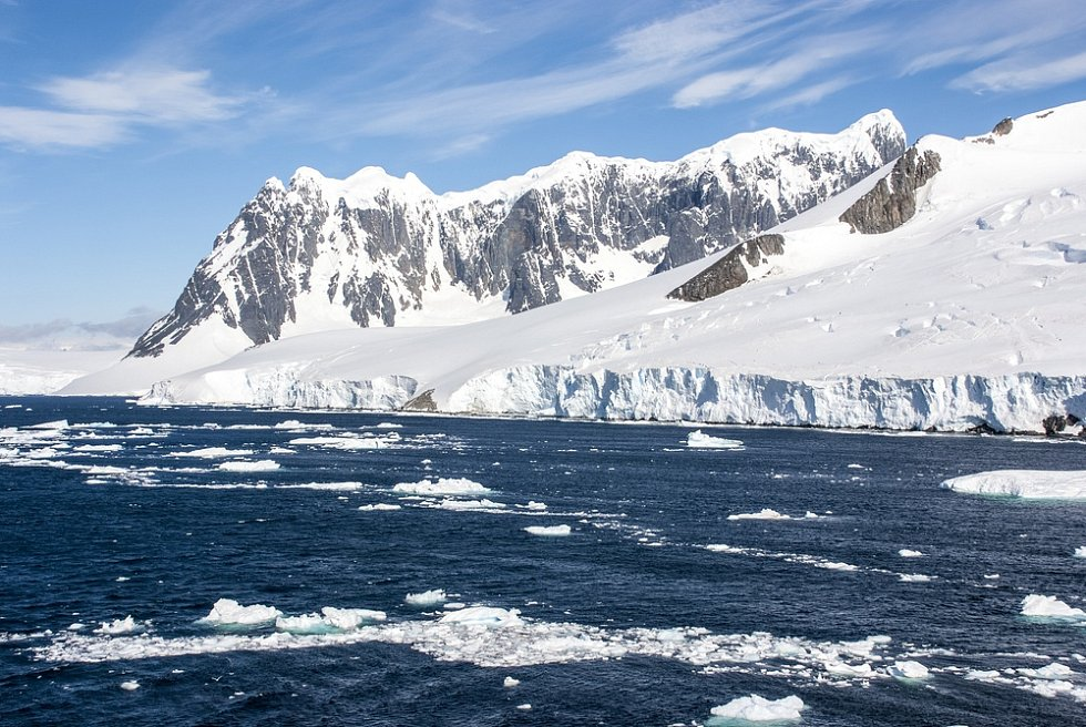 Antarktida. Ilustrační snímek