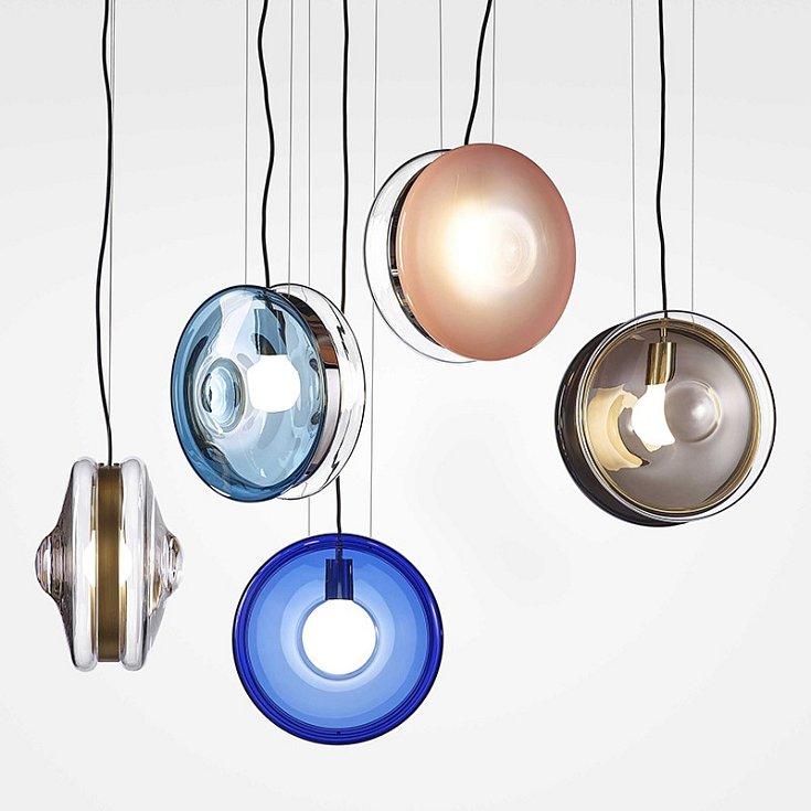 Kolekce svítidel Orbital pro sklářskou firmu Bomma.