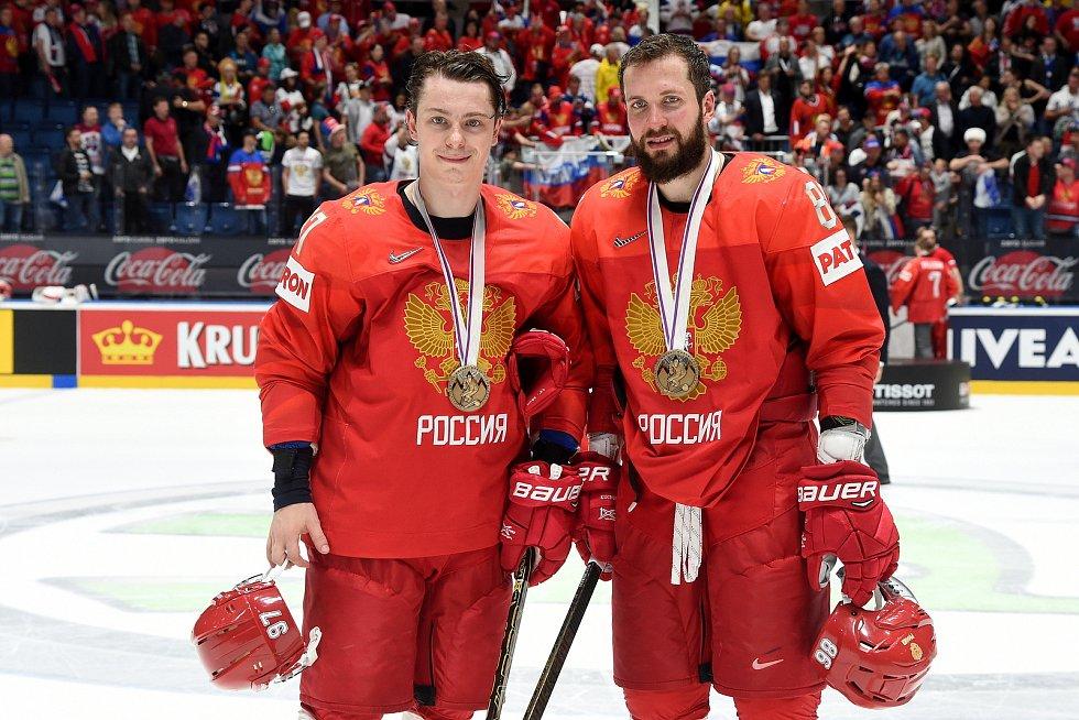 Bratislava 26.5.2019 - Mistrovství světa v Bratislavě - zápas o bronz mezi Českem a Ruskem - předávání bronzových medailí