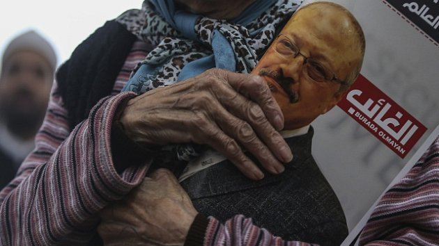 Protest kvůli vraždě saúdskoarabského novináře Džamala Chášukdžího.