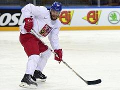 Michal Jordán na tréninku hokejové reprezentace.