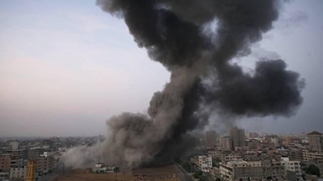 Spoušť po izraelských útocích na pásmo Gazy.