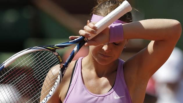 Lucie Šafářová v semifinále French Open.