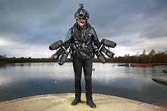 Jet pack Daedalus při pokusu o rychlostní rekord