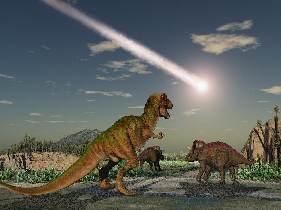 Vyhynutí dinosaurů způsobil dopad obřího asteroidu.