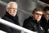Hans Backe (vlevo) a Markku Kanerva.