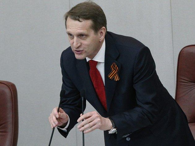 Šéf dolní komory ruského parlamentu Sergej Naryškin.