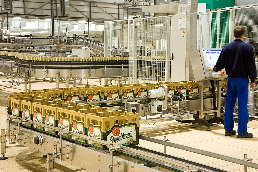 Výroba piva - stáčírna