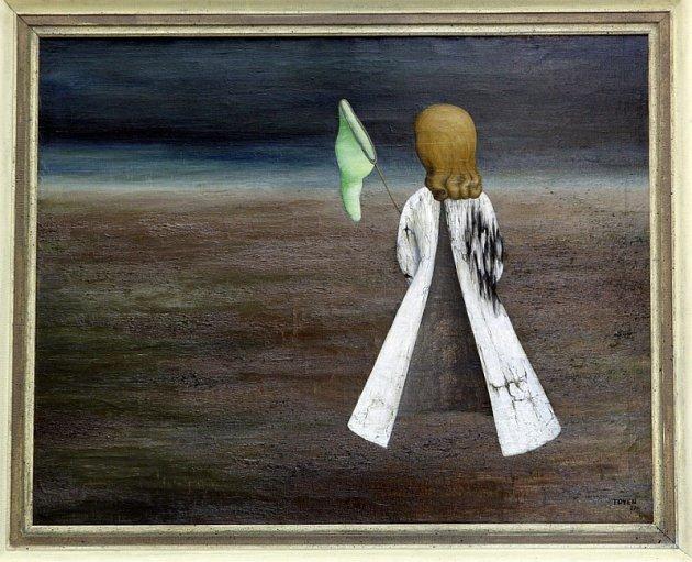 Nejslavnější český surrealistický obraz, který v roce 1937 vytvořila malířka Toyen, byl v neděli vydražen za dvacet milionů korun.