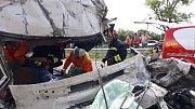 Nehoda kamionu u ukrajinského Žitomyru