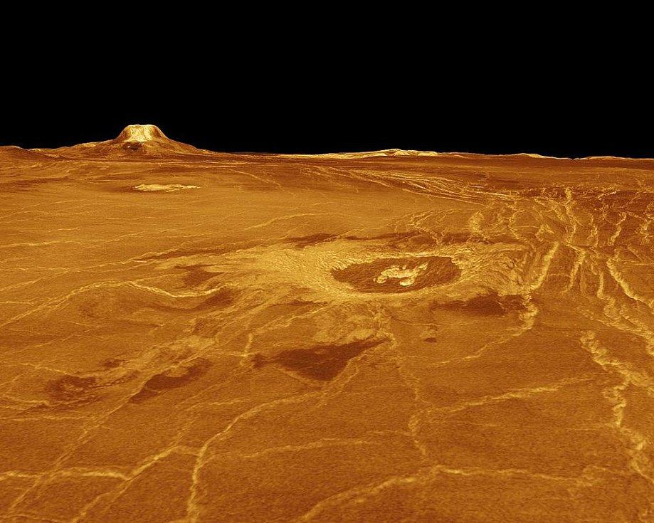 Povrch Venuše. Ilustrační snímek