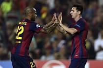 Barcelona - Ajax: Lionel Messi a Dani Alves