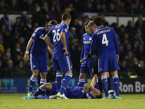 Chelsea porazila Derby, ale přišla o Kurta Zoumu