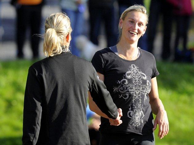 Oštěpařka Barbora Špotáková se vrátila k závodění na mítinku v Domažlicích.