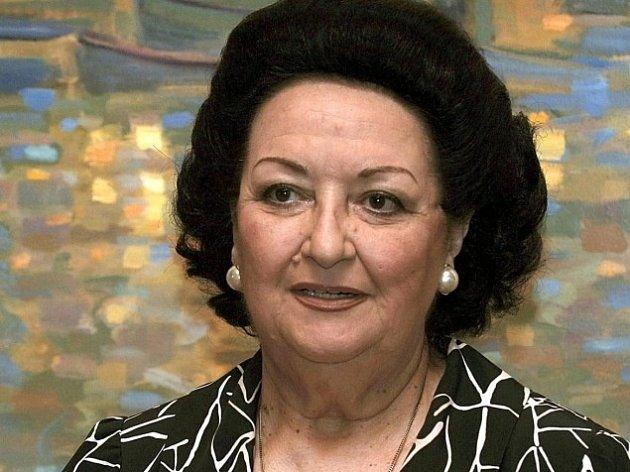 Operní pěvkyně Monserrat Caballéová