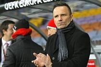 Trenér Viktorie Plzeň Karel Krejčí.