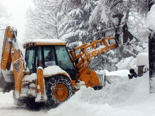 Sněhová kalamita v Polsku.