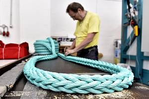 Výroba lan ve společnosti Lanex z Bolatic na Opavsku