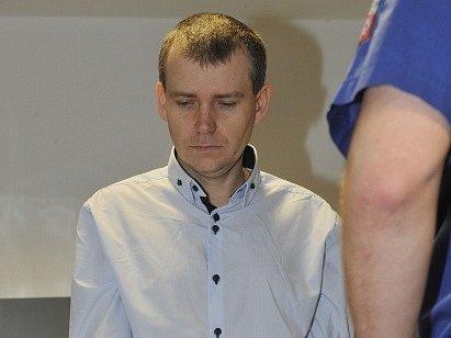 Tomáš Březina u olomouckého soudu.
