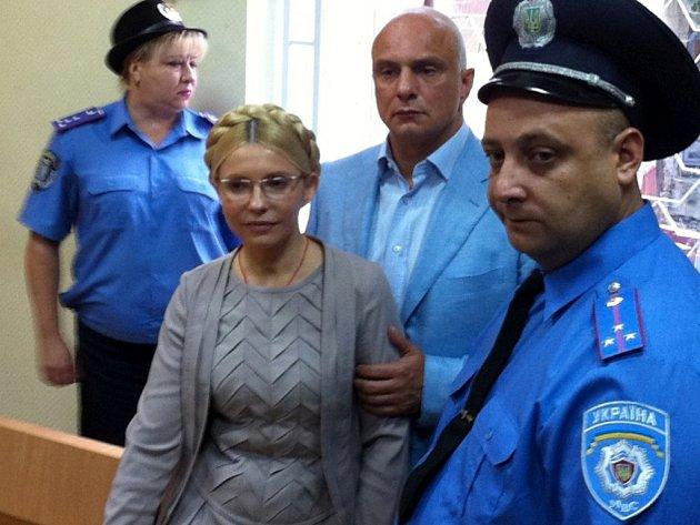 Julija Tymošenková u soudu.