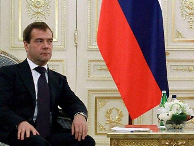 Ruský prezident Dmitrij Medveděv.