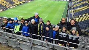 Kluci z Ostravy na fotbalovém zápase v Dortmundu