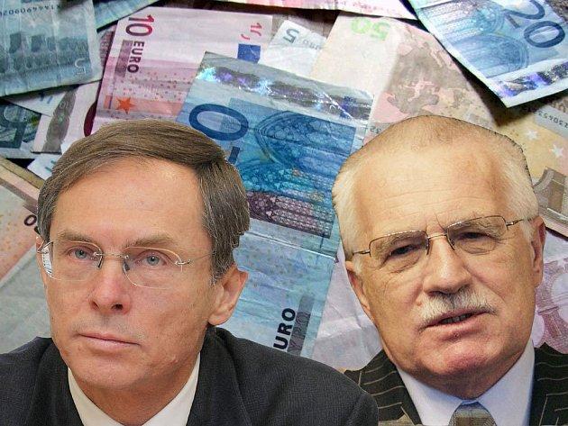 Třetina Čechů chce, aby prezident podpořil rychlé přijetí eura