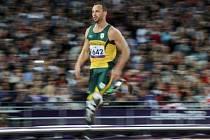 Oscar Pistorius na paralympiádě v Londýně.