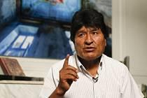 Bývalý bolivijský prezident Evo Morales při rozhovoru s agenturou AP v mexickém azylu 14. listopadu 2019.