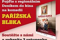 Pojďte s regionálním Deníkem do kina na komedii  PAŘÍŽSKÁ BLBKA, která má premiéru  20. srpna 2015