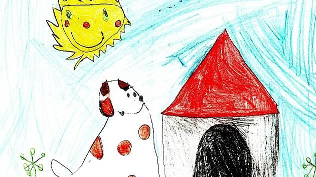 Obrázek nakreslila Janička Mrkosová ze Žďáru nad Sázavou, které je teprve čtyři a půl roku.