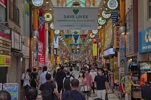 Japonské Tokio během epidemie koronaviru. Ilustrační snímek