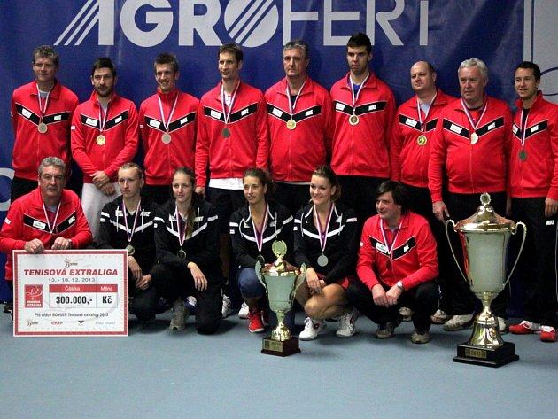Tenisté Prostějova vyhráli pošesté za sebou extraligu družstev.