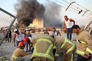 V libanonském Bejrútu explodoval sklad s pyrotechnikou